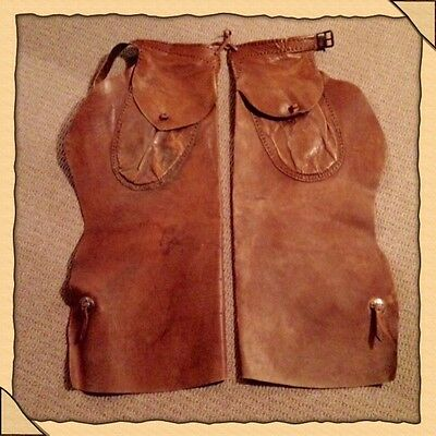 Vintage Western Batwing Chaps 1920's-1930's With Hand Stitching