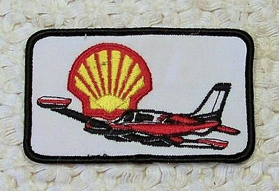 Vintage SHELL PATCH with rare Jet Airplane for OIL GAS sign collection