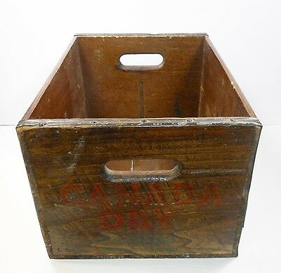 """Collectible Canada Dry Beverages Soda Wooden 16-1/4"""" Crate 1950s ~ N-7-51"""