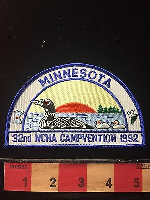 Minnesota Patch 1992 Campvention Duck On Water With Sunset 69ZZ