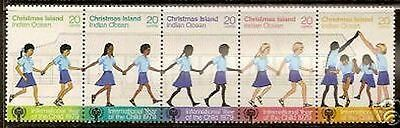 CHRISTMAS ISLAND 1979 INTERNATIONAL YEAR OF THE CHILD STRIP of 5  MNH