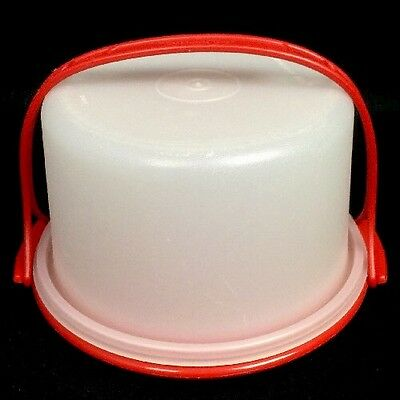 Tupperware Toys Child Size Mini Red Cake Taker W/ Handle # 1498