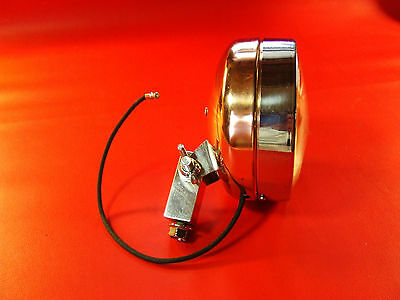 "Vintage  Minibike, 5"" OD. 6VOLT COPPER PLATED  VINTAGE MINIBIKE HEAD  LIGHT"