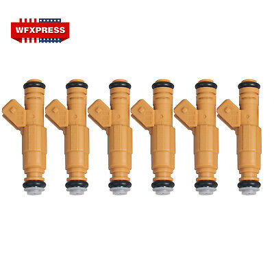 Set of 6 NEW Fuel Injectors For 87-98 JEEP 4.0L Replace 0280155710 0280155700