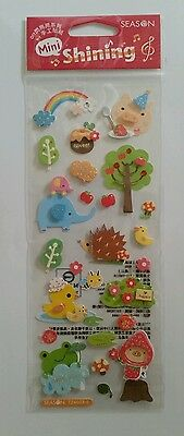 3D Sticker Sheet Cute Animals Crafts Scrapbooking Japanese Kawaii