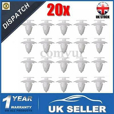 20 x WHEEL ARCH TRIM FIXING CLIPS FRONT REAR BUMPER FASTENER FOR FORD KA -UK