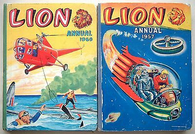 Lion Annuals 1957 and 1960: Unclipped (7/6 & 8/6): 160 Pages