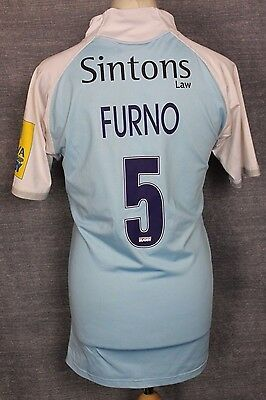 Furno #4 Newcastle Falcons Rugby Shirt Gilbert Rare Mens Xl Rare Match Worn ?