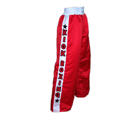 TurnerMAX kick Boxing Training Trousers Contact Pants Muay Thai Martial Arts Red