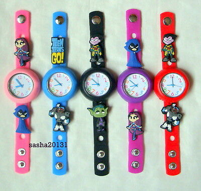 Teen Titans Jibbitz Band Watch  & A Set Of 6 Teen Titans  Charms, Brand New