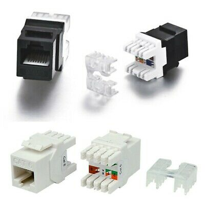 CAT6 CAT6A CAT5 RJ45 Keystone Jack Socket 180 Degree Modular Wall Patch Panel