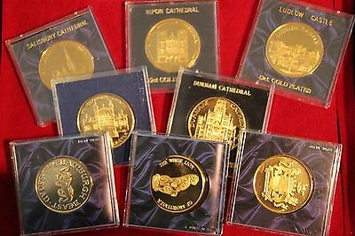 22CT Gold Plated Medallions Places of Interest