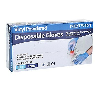 Portwest A900 Powdered Vinyl Disposable Glove - Box of 100