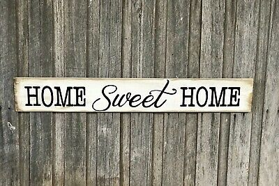 HOME Sweet HOME L100CM X H15CM  - MULTIPLE COLOURS - Rustic Timber Sign