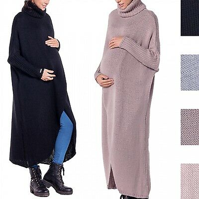 Happy Mama. Women's Maternity Wrap Knitted Layer Jumper Pullover Pregnancy. 499p