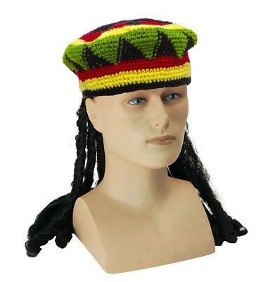 Bob Marley Adult Kids Boys Girls Jamaican Wig Caribbean Costume Accessory Rasta