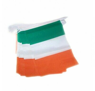 Ireland Tri Colour Flag Style Bunting (5 Meters)