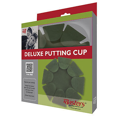 Masters Deluxe Putting Cup - New Golf Indoor Home Office Practice Training Aid