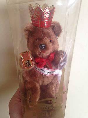 "Schuco Berlin Bear BROWN 4.5"" Jointed Mint In Box-Box Shows Wear-Look NO Res!"