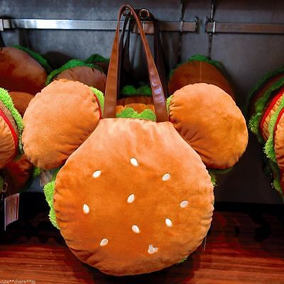 Tokyo Disney Resort Limited Mickey Mouse Hamburger Plush Tote Bag New