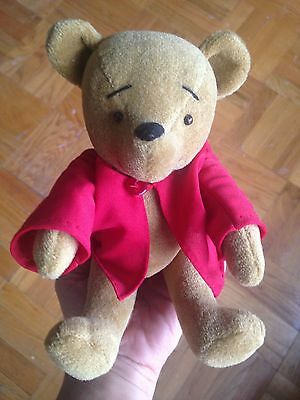 "Teddy Bear Artist 9"" Velvet Material Pooh Bear Bearly There Co. Linda Spiegel NR"