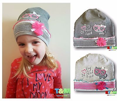 Baby Toddler Girl Cotton Soft Hat Cap for Spring/Autumn With Cat Design 18M-2.5Y