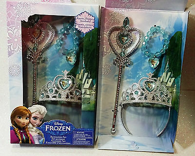 Carnevale Halloween Set Accessori Frozen Elsa Crown Princess Tiara Originale