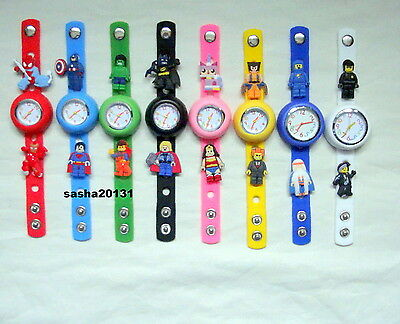 Lego Movie Jibbitz Band Watch & A Set Of 16 Lego Character Charms, Brand New