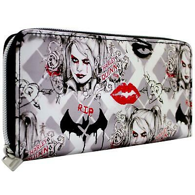 New Official Dc Suicide Squad Harley Quinn Rip Silver Coin & Card Envelope Purse