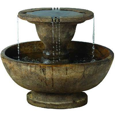 Stone Effect Water Features Large Bowl Fountain Garden Patio Outdoor Decoration
