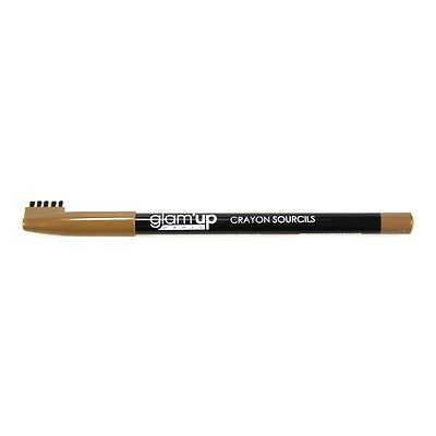Glam'Up - Maquillage Yeux Crayon Sourcils Marron Clair - Fabrication Européenne