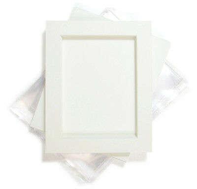 Quality Photo Frame Picture Mounts with Bevel (Backing and Clear Bag Option)