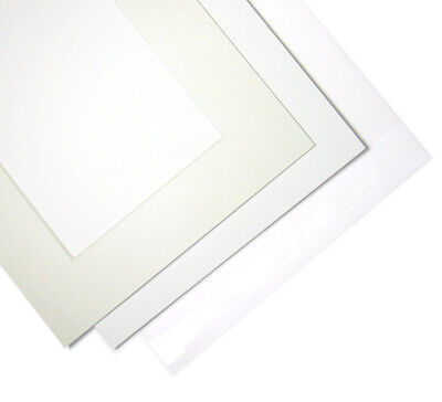 Square Photo Frame Picture Mounts with Bevel (Backing and Clear Bag Option)