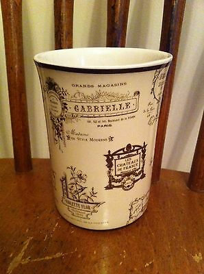 French themed ceramic bathroom tumbler Restroom Potty Loo Fancy Brand New Cup