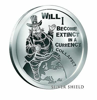 SILVER SHIELD - OLIGARCHY - FAT SAM - 1oz .999 SILVER PROOF COIN 2016