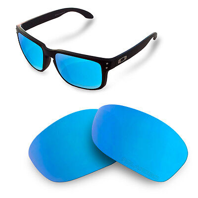 New Fit&See Polarized Replacement Lenses for Oakley Holbrook ( Ice Blue )