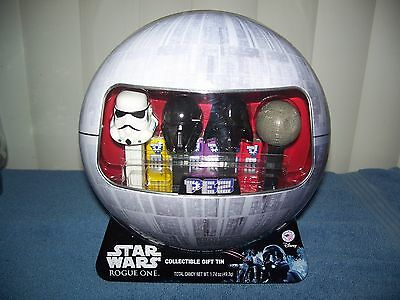 Star Wars Rogue One Pez Collectible Death Star Gift Tin Set