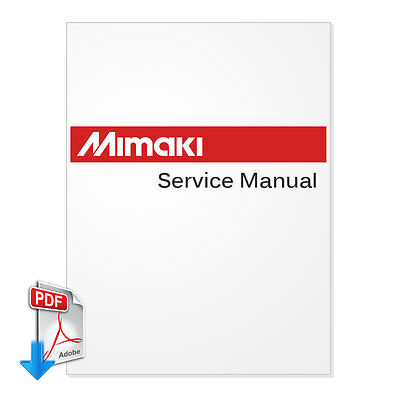 MIMAKI JV33-130 JV33-160 Plotter English Maintenance Manual