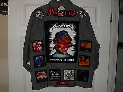 "Metallica ""MASTER OF PUPPETS/JIGSAW"" Tribute Jacket--Grey--XL....AC/DC,Pantera"