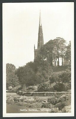 Leicester Castle Gardens c1950s District View Real Photo Postcard