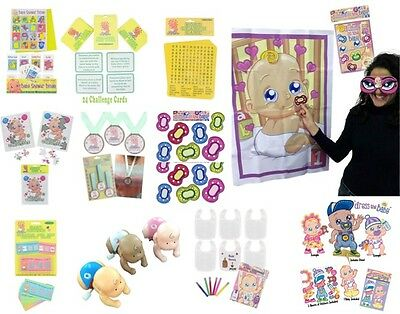 Baby Shower Party Game Games Boy Girl Unisex Bingo Pin Dummy Decoration All Here