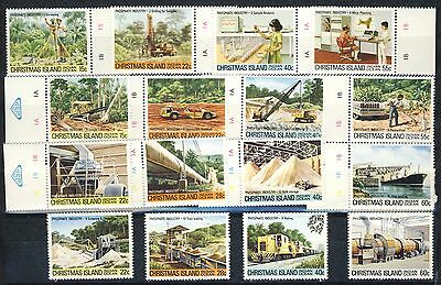 "1980/81 Christmas Island MNH complete set of 16 stamps"" Industry ""Scott # 95-110"