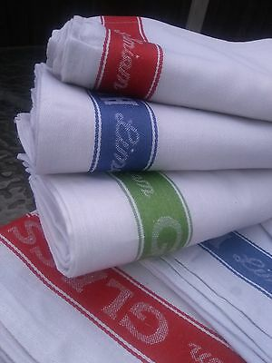 6  x Linen union glass cloth cloths tea towel 50% cotton 50% linen 3 colours