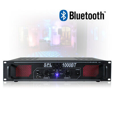 SPL-1000BT Two Channel Power Amplifier Bluetooth Amp Hi-Fi Home DJ Party 1000W