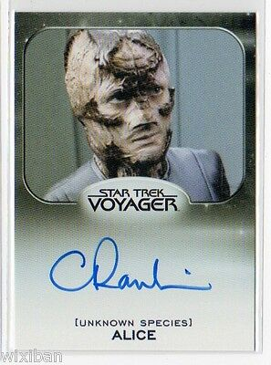 Star Trek 50th Aliens Autograph Limited VOY CLAIRE RANKIN Alice