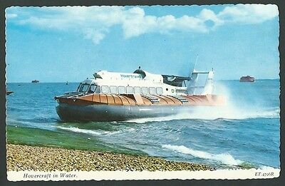 Hovercraft In Water c1970s Valentine Printed Postcard