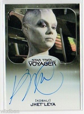 Star Trek 50th Aliens Autograph VLimited VOY KIM RHODES Jhet'leya