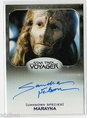 Star Trek 50th Aliens Autograph VLimited VOY SANDRA NELSON Marayna