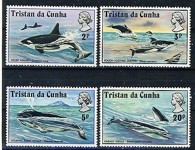 "1975 Tristan da Cunha MNH complete set of 4 stamps ""Whales"" Scott 202-205"