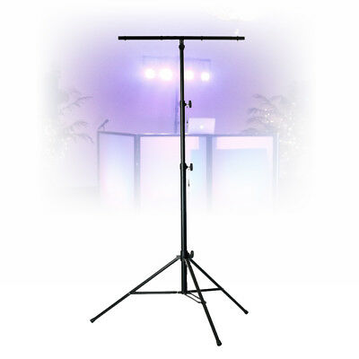 Vonyx Steel Heavy Duty T Bar 3 Section Lighting Stand Mobile DJ Tripod 30KG